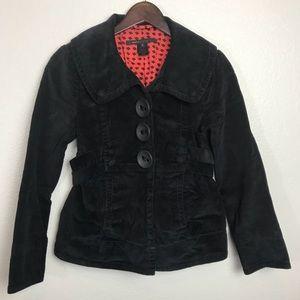 Marc Jacobs black corduroy jacket size 2